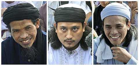 TIGA pengebom berani mati Bali (dari kiri) Ali Ghufron, Imam Samudra dan Amrozi Nurhasyim. - foto AP
